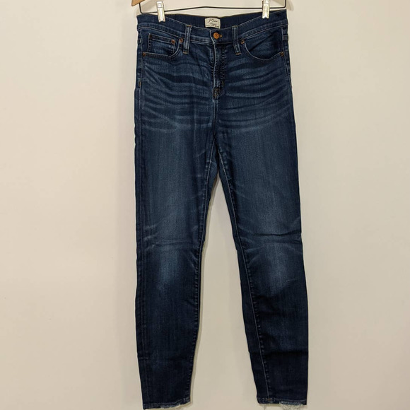J. Crew Lookout High Rise Skinny Jeans Distressed Size 30 Women's Preowned